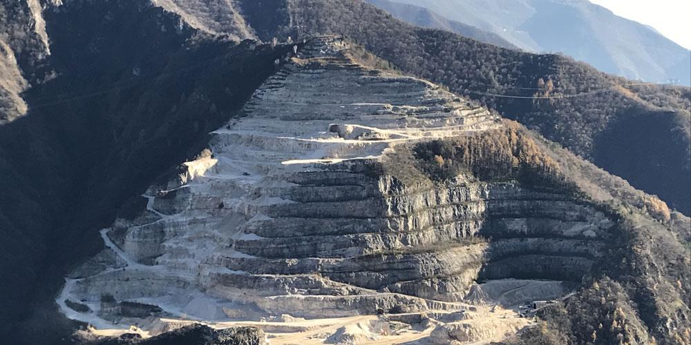 sito estrazione dolomite monte grappa peroglio